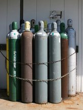 compressed gas bottles