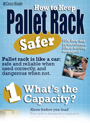Pallet rack infographic