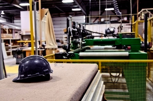 hard hat in an industrial operation