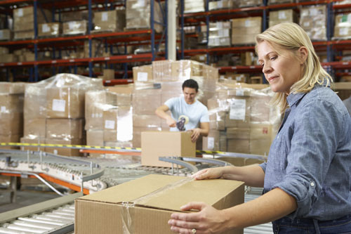 conveyor ergonomics in a warehouse distribution operation