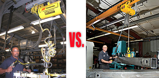 Hoists and Balancers - The differences