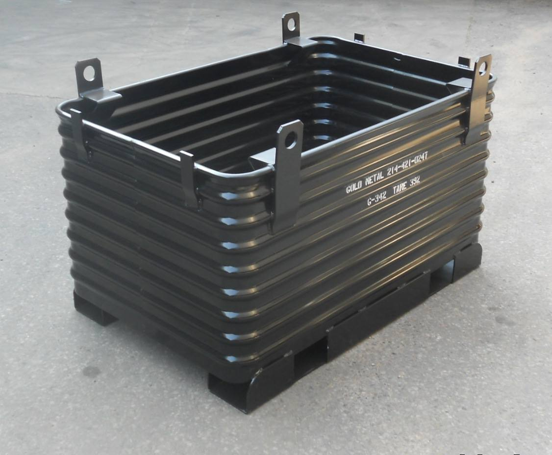 steel heavy duty recycling container