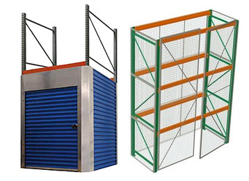 pallet rack security cages and enclosures