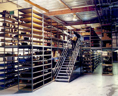 shelf supported mezzanine system