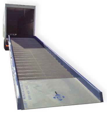 yard ramp in use