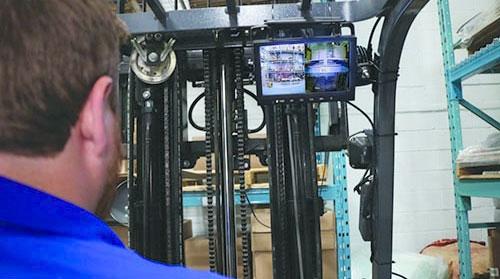 forklift blind spot camera