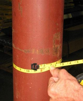 measuring a round building column