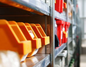 picking locations in warehouse shelving