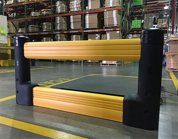 guardail in a warehouse