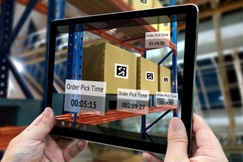Order picking tablet in a warehouse