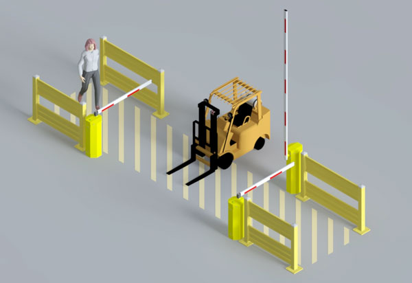 aislecop system with forklift priority