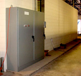 Electrical panel in a distribution center