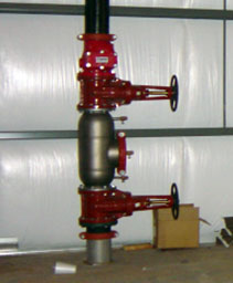 fire supression system in a factory