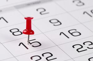 lead time calendar