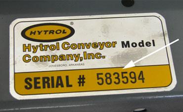 Conveyor serial number