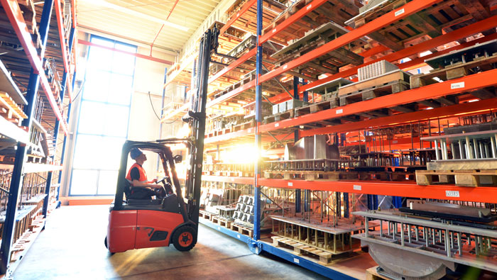 hot warehouse with sunlight