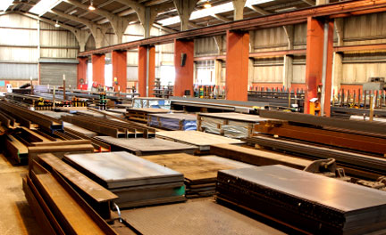 sheet metal in a production facility
