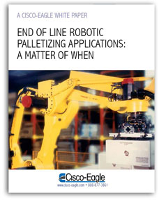 robotic palletizing white paper