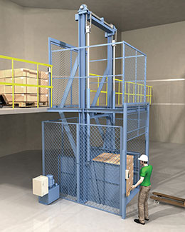 straddle design vertical conveyor