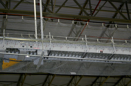 conveyor with safety netting