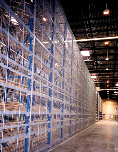 wire mesh rack safety panels
