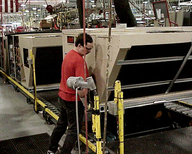 lean manufacturing and conveyors help reduce work and increase flexibility