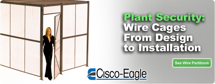 See all wire security cages and partitions