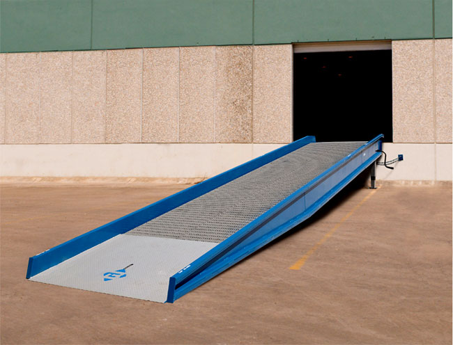 yard ramp in use