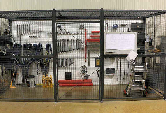 tool crib security cage