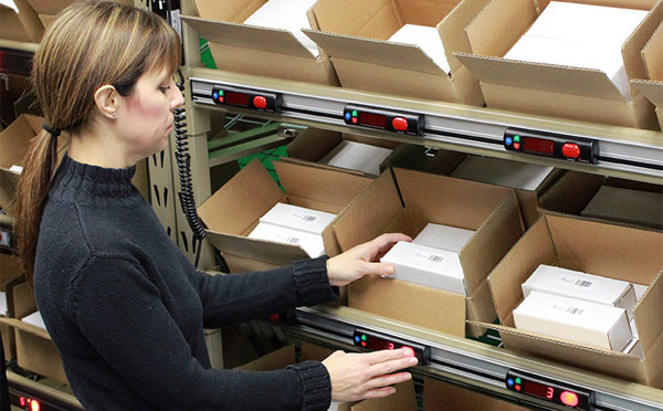 pick to light for order fulfillment
