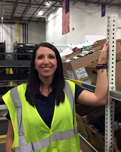 Tina Brooks on a customer site visit