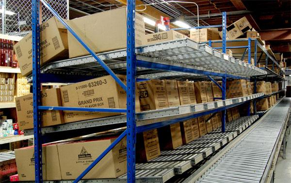 carton flow loads in a distribution center