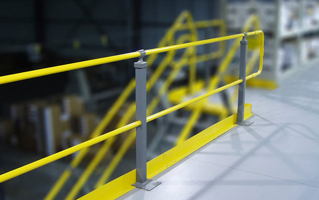 mezzanine handrailing in a warehouse