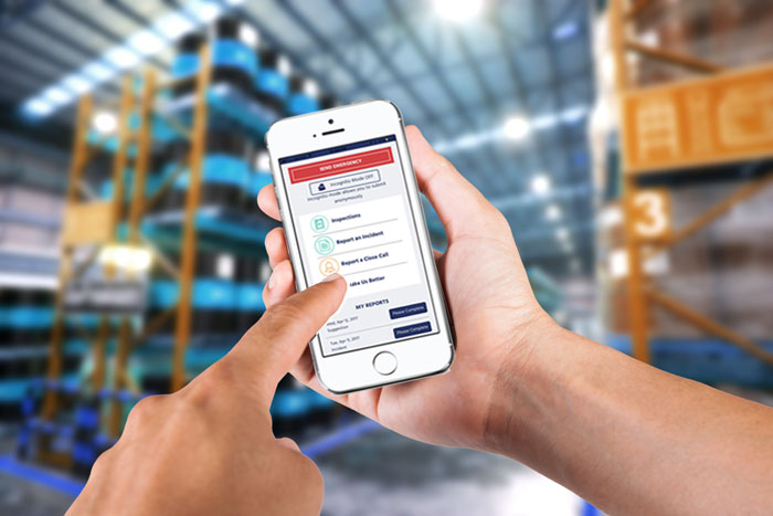 safety reporting software in a warehouse