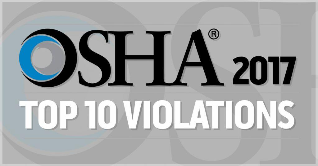 OSHA Top 10 Violations 2017