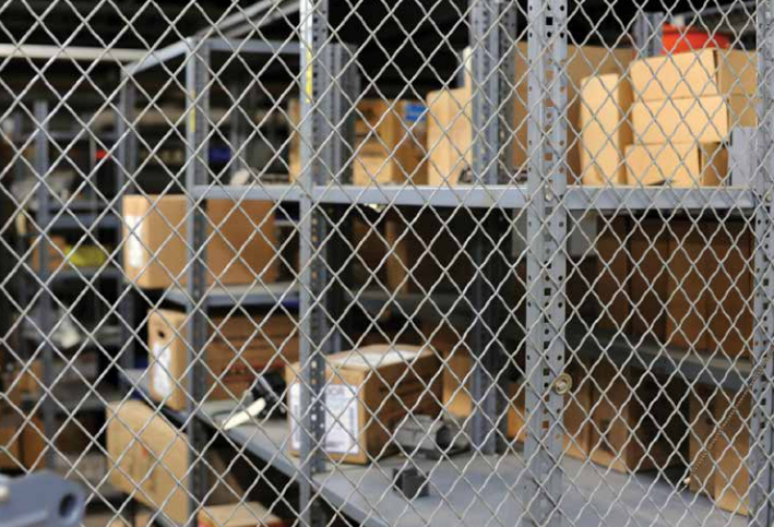 cage security area for valued inventory