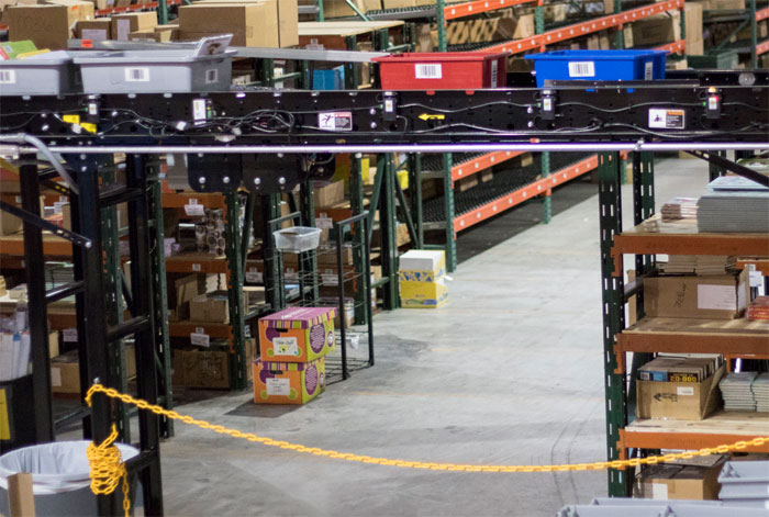 conveyor clearance in a distribution center