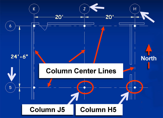 column center layout sketch
