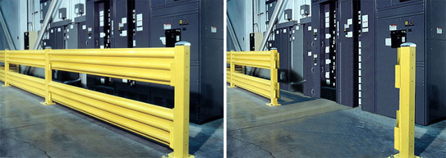 lift-out steel guard rail