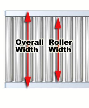 conveyor width illustration