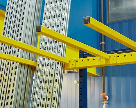 vertical bar racks in pallet rack