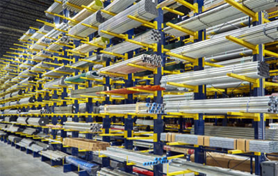 cantilever rack with pipe storage