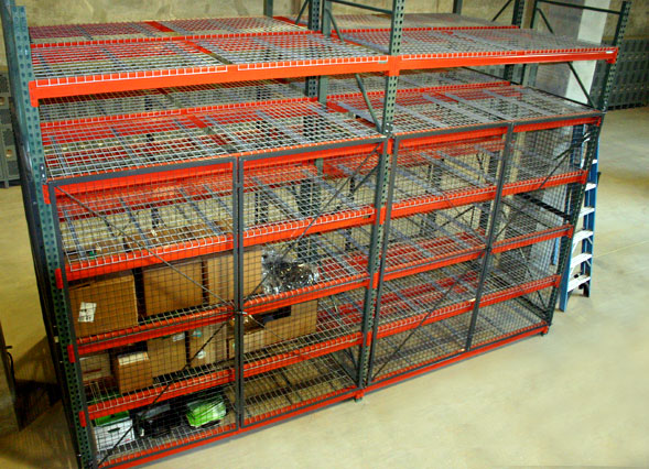 pallet rack security cage