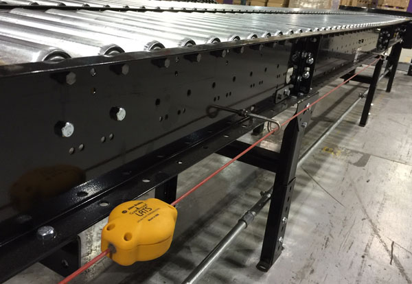 e-stop on a conveyor system