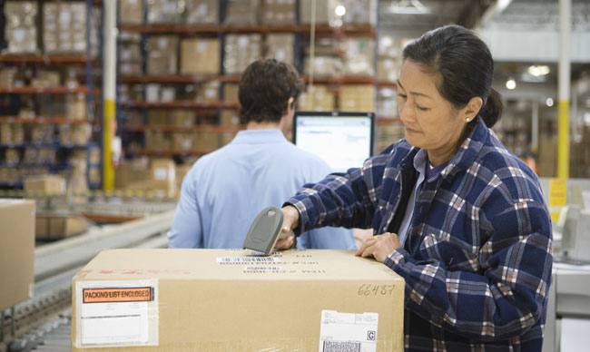 order fulfillment operation using a hand scanner