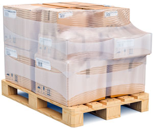 securely wrapped pallet
