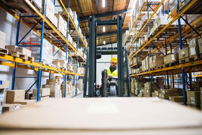 warehouse rack aisle