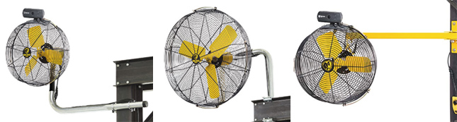 mounting options for directional fans