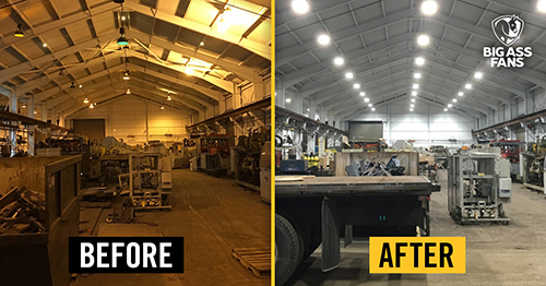 Before and After LED Lighting
