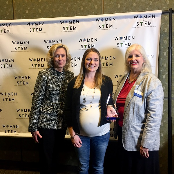 Amanda Miller with STEM award